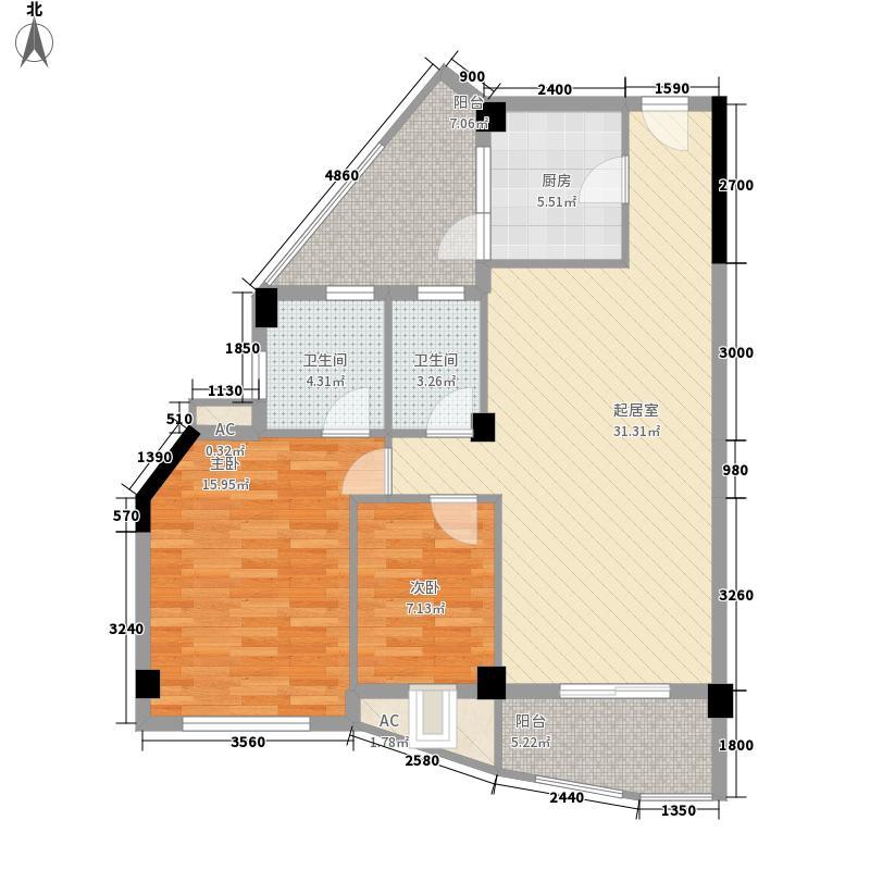 嘉多利山花园别墅100.06㎡嘉多利山花园别墅户型图2室2厅2卫1厨户型10室
