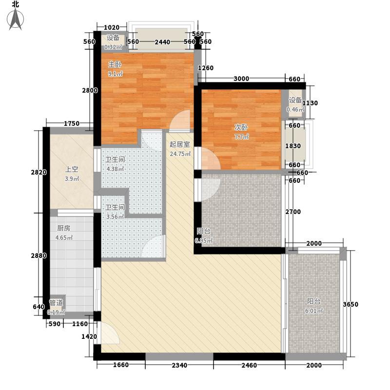 华盛君荟名庭华盛君荟名庭户型图1栋cd单元2室2厅2卫1厨户型2室2厅2卫1厨