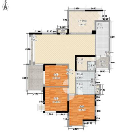 明诚景怡苑3室1厅3卫1厨177.00㎡户型图