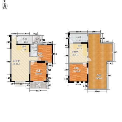 和谐家园3室0厅2卫1厨141.00㎡户型图