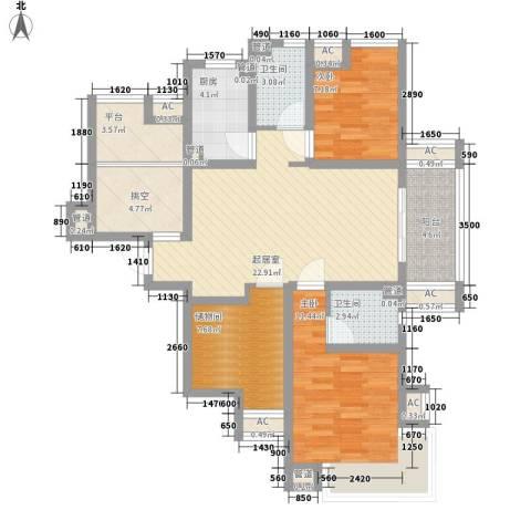 保利梧桐公馆2室0厅2卫1厨115.00㎡户型图