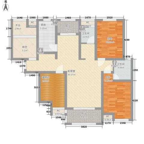保利梧桐公馆2室0厅2卫1厨138.00㎡户型图