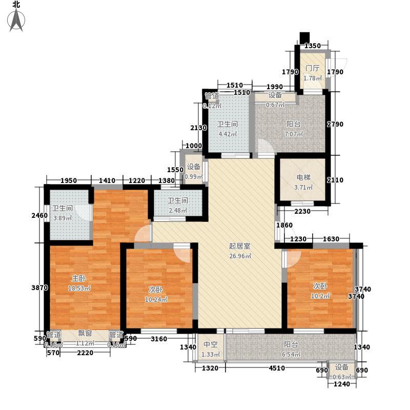 长江国际二期臻园141.00㎡长江国际二期臻园户型图G1户型图3室2厅2卫1厨户型3室2厅2卫1厨