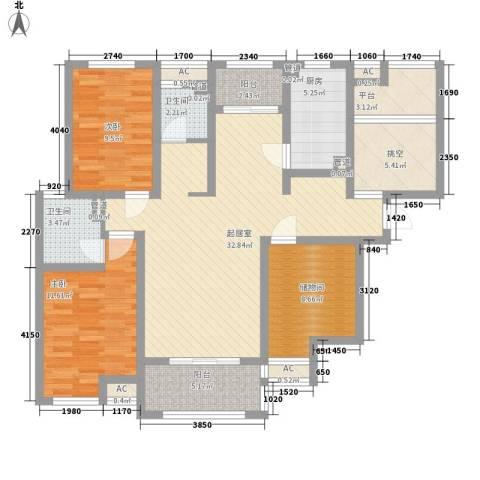 保利梧桐公馆2室0厅2卫1厨137.00㎡户型图