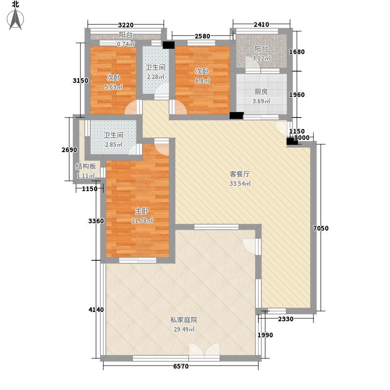 奥林匹克花园147.00㎡TH4-1D户型3室2厅2卫1厨