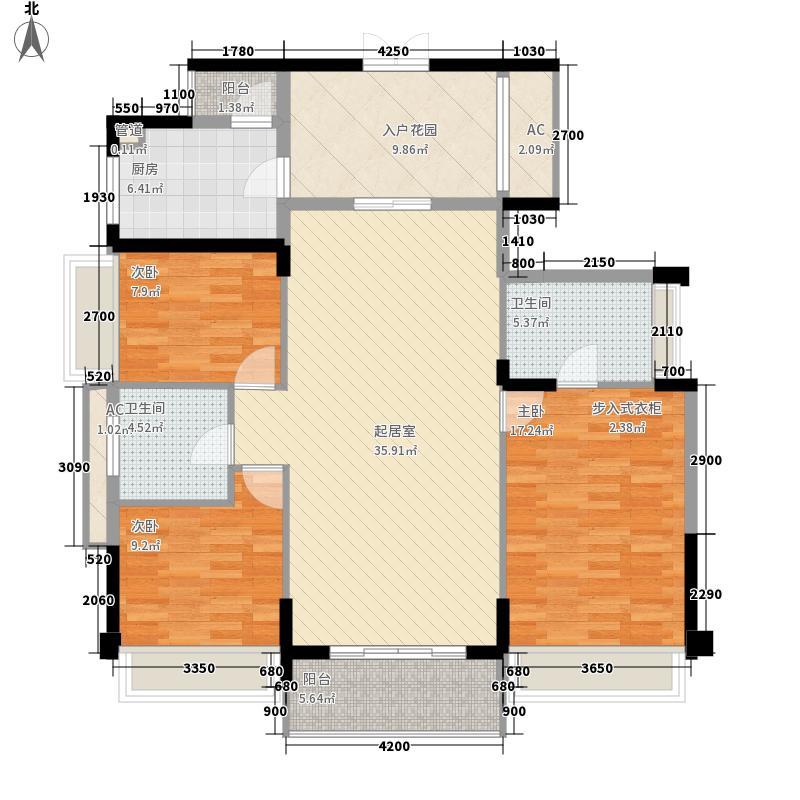 领尚天地130.00㎡领尚天地户型图3栋1单元02室标准层E户型3室2厅2卫1厨户型3室2厅2卫1厨
