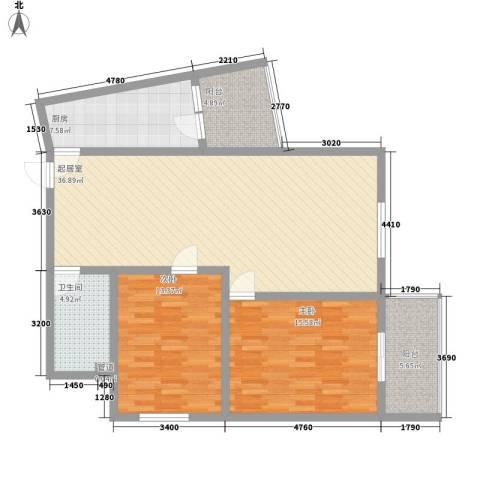 圣会家天下2室0厅1卫1厨126.00㎡户型图