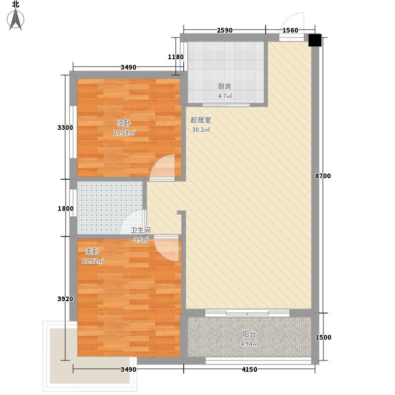 源馨苑83.91㎡一期1号楼标准层D面积8391m户型