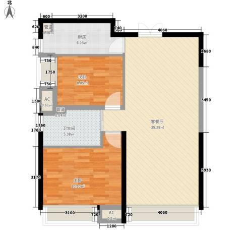 微电子小区2室1厅1卫1厨99.00㎡户型图