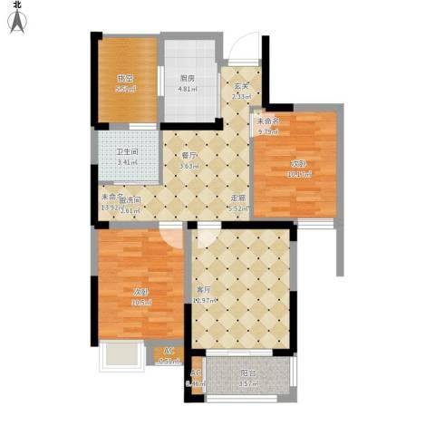 御景城1室1厅1卫1厨79.00㎡户型图