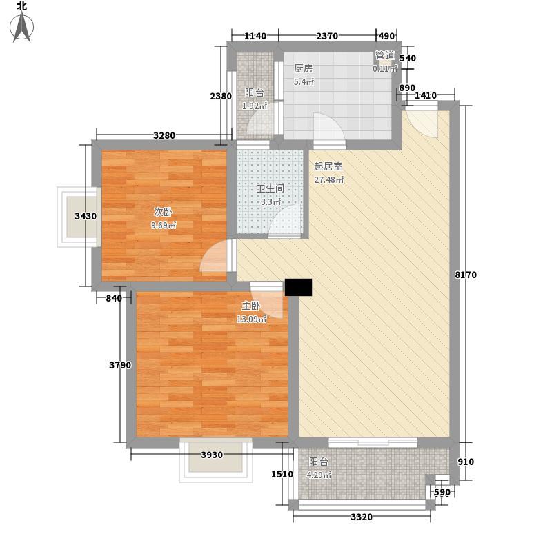 电建小区95.00㎡电建小区2室户型2室