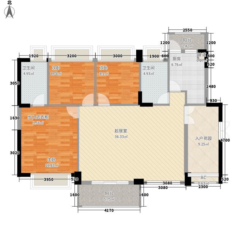 领尚天地130.00㎡领尚天地户型图3栋1单元03室标准层D1户型3室2厅2卫1厨户型3室2厅2卫1厨