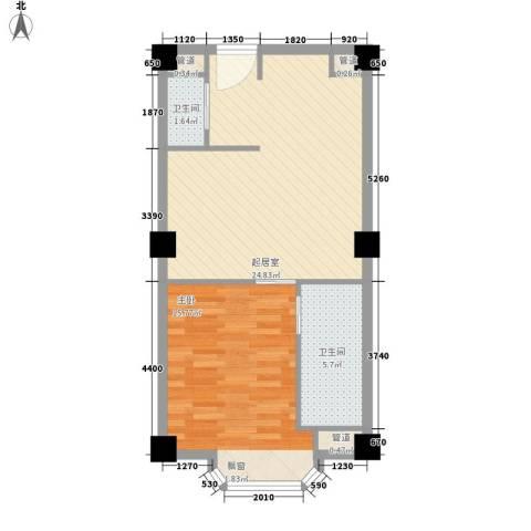 两岸新天地1室0厅2卫0厨70.00㎡户型图