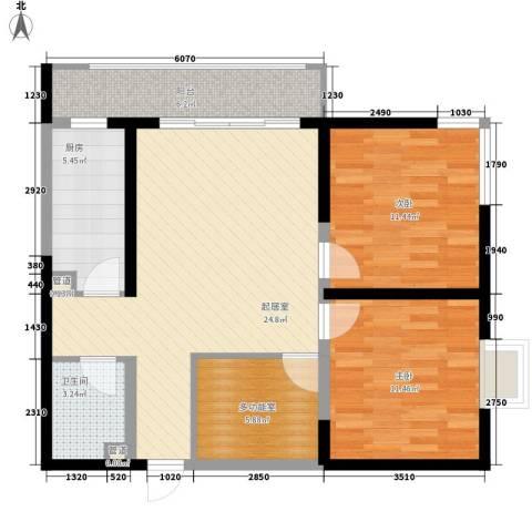 西盟公社2室0厅1卫1厨99.00㎡户型图