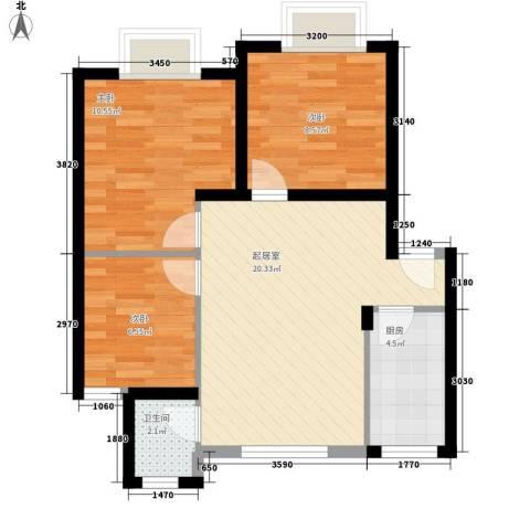 翡翠园山湖居二期3室0厅1卫1厨75.00㎡户型图