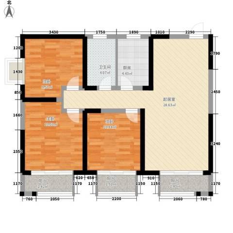 西盟公社3室0厅1卫1厨108.00㎡户型图