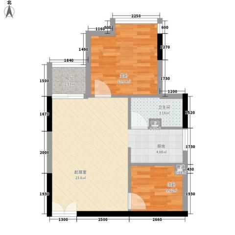 金沙雅苑2室0厅1卫0厨63.00㎡户型图