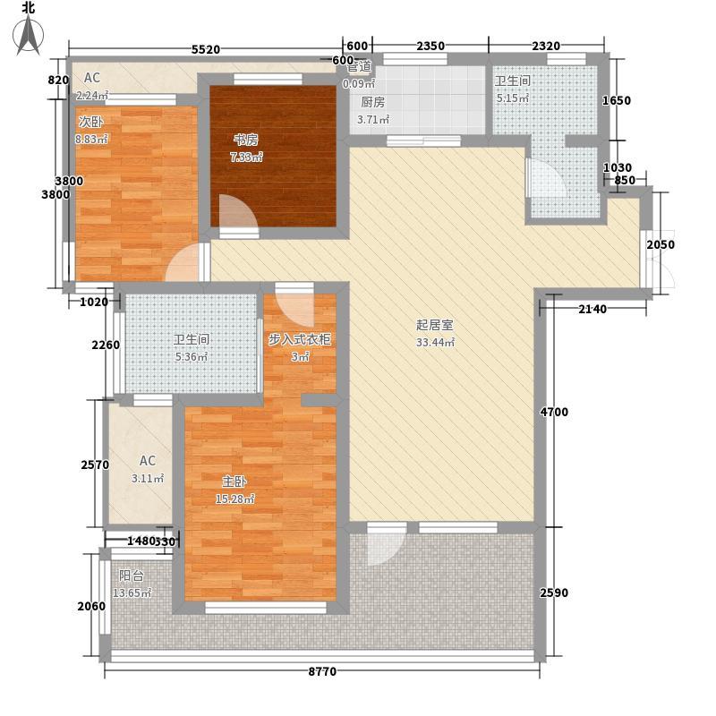 红星海艺墅144.00㎡红星海艺墅3室户型3室