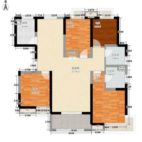 卓越繁华里4室0厅2卫1厨141.00㎡户型图