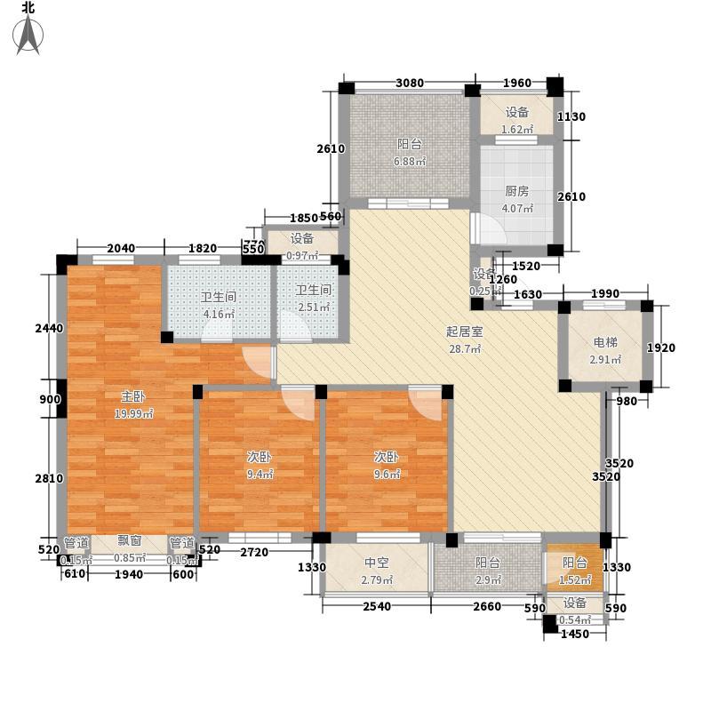 长江国际二期臻园138.00㎡长江国际二期臻园户型图E6户型图3室2厅2卫1厨户型3室2厅2卫1厨