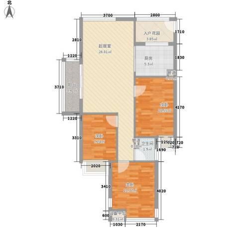 金沙雅苑3室0厅1卫1厨99.00㎡户型图