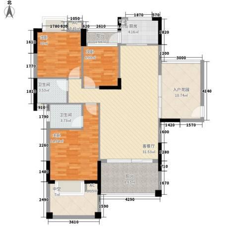 中航格澜郡别墅3室1厅2卫1厨147.00㎡户型图