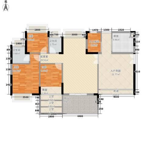 劲力城市明珠三期3室0厅2卫1厨115.00㎡户型图