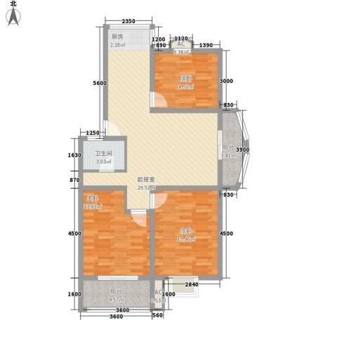 明华家园3室0厅1卫0厨111.00㎡户型图