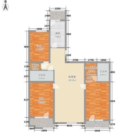 明城花园3室0厅2卫1厨165.00㎡户型图