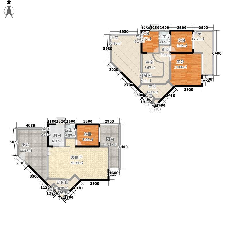 蓝郡145.20㎡蓝郡户型图一座24B户型4室2厅2卫1厨户型4室2厅2卫1厨