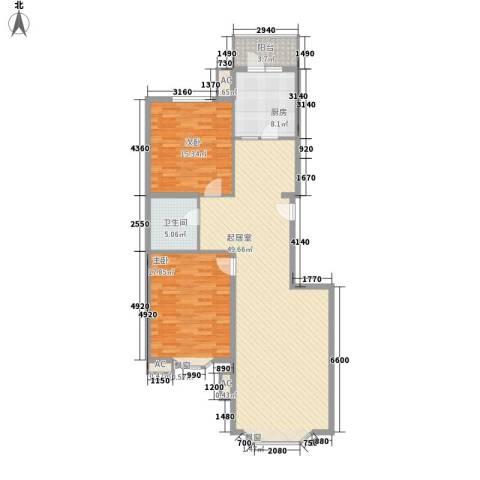 城南嘉园2室0厅1卫1厨101.22㎡户型图