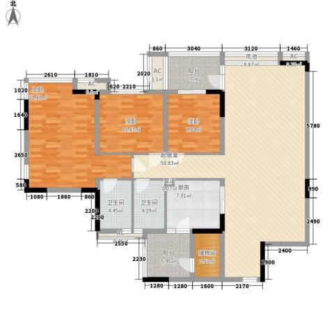 丰泰观山碧水二期别墅3室0厅2卫1厨179.00㎡户型图