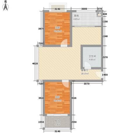仁和佳苑2室1厅1卫1厨92.00㎡户型图