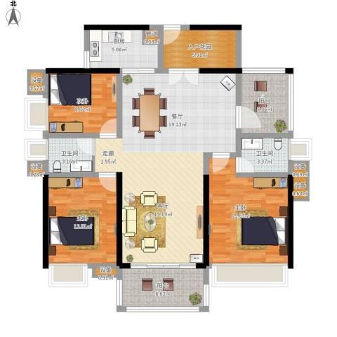 中信凯旋城别墅3室1厅2卫1厨159.00㎡户型图