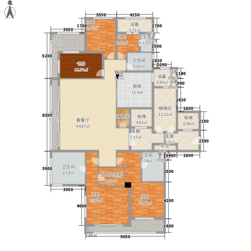 绿城西溪诚园282.00㎡L中间套户型5室2厅