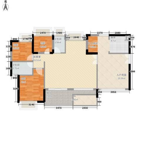 劲力城市明珠三期3室0厅2卫0厨135.00㎡户型图