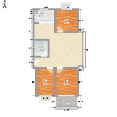 仁和佳苑3室1厅1卫1厨101.00㎡户型图