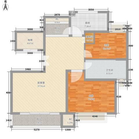 大华阳城四期阳城美景2室0厅1卫1厨141.00㎡户型图