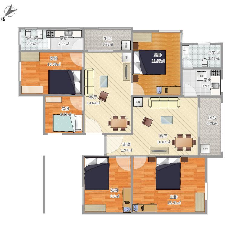 两两房一厅