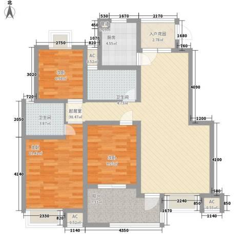 香城花园别墅3室0厅2卫1厨125.00㎡户型图