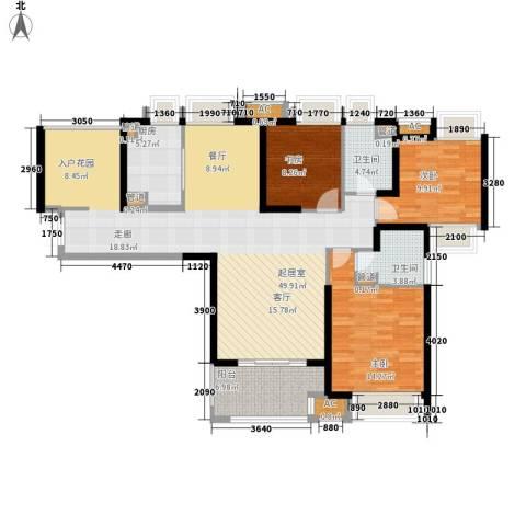 融侨锦江3室0厅2卫1厨134.00㎡户型图