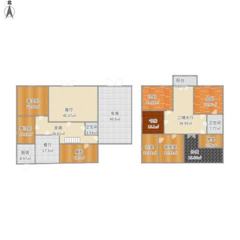 前程藏珑3室2厅2卫1厨487.00㎡户型图