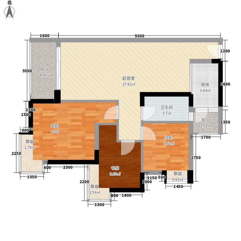 尚上名筑89.90㎡A5栋-1001户型3室2厅