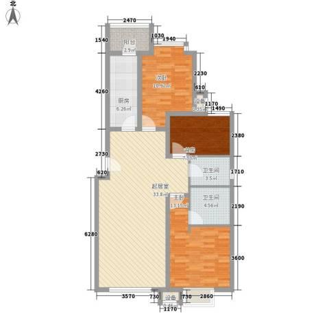 丰景佳园3室0厅2卫1厨120.00㎡户型图