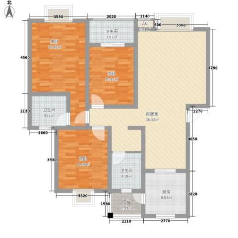 丹桂苑3室0厅3卫1厨120.00㎡户型图