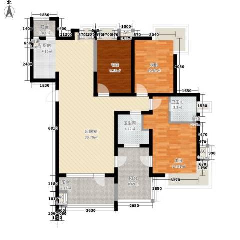 格林生活坊3室0厅2卫0厨127.00㎡户型图