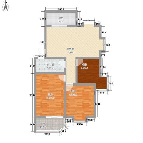 金容花园3室0厅1卫1厨113.00㎡户型图