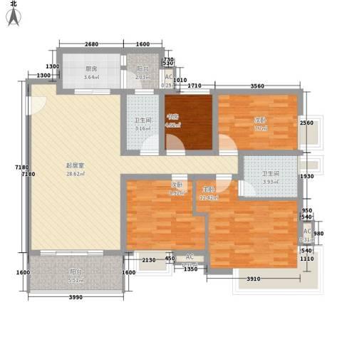 富景花园三期4室0厅2卫1厨120.00㎡户型图