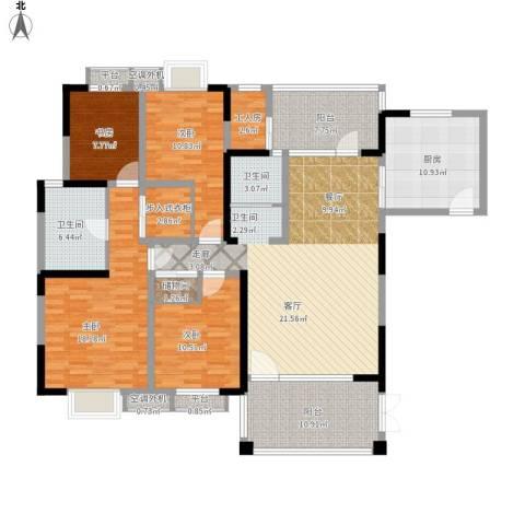 星海嘉苑4室1厅2卫1厨193.00㎡户型图