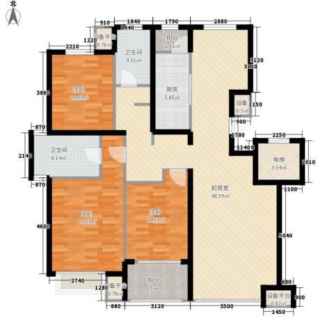 朗�骏景3室0厅2卫1厨135.00㎡户型图
